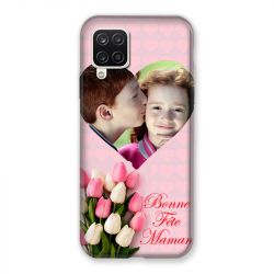 Coque Pour Samsung Galaxy A12 Personnalisee Fete Des Meres Coeurs Roses