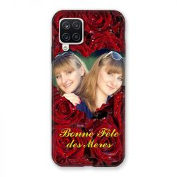 Coque Pour Samsung Galaxy A12 Personnalisee Fete Des Meres Roses Rouges