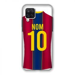 Coque Pour Samsung Galaxy A12 Personnalisee Maillot Football FC Barcelone