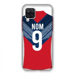 Coque Pour Samsung Galaxy A12 Personnalisee Maillot Football LOSC Lille