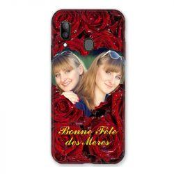 Coque Pour Samsung Galaxy A20e Personnalisee Fete Des Meres Roses Rouges