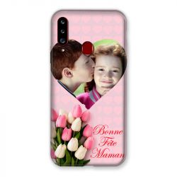 Coque Pour Samsung Galaxy A20S Personnalisee Fete Des Meres Coeurs Roses