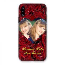 Coque Pour Samsung Galaxy A20S Personnalisee Fete Des Meres Roses Rouges