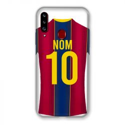 Coque Pour Samsung Galaxy A20S Personnalisee Maillot Football FC Barcelone