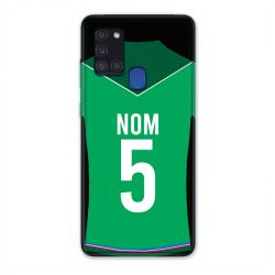 Coque Pour Samsung Galaxy A21S Personnalisee Maillot Football AS Saint Etienne