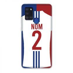 Coque Pour Samsung Galaxy A21S Personnalisee Maillot Football Olympique Lyonnais Domicile