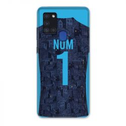 Coque Pour Samsung Galaxy A21S Personnalisee Maillot Football Olympique Marseille Exterieur