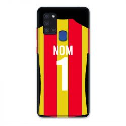 Coque Pour Samsung Galaxy A21S Personnalisee Maillot Football RC Lens