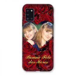 Coque Pour Samsung Galaxy A31 Personnalisee Fete Des Meres Roses Rouges