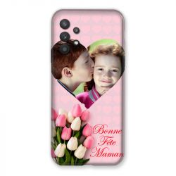 Coque Pour Samsung Galaxy A32 Personnalisee Fete Des Meres Coeurs Roses