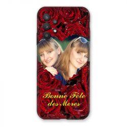 Coque Pour Samsung Galaxy A32 Personnalisee Fete Des Meres Roses Rouges