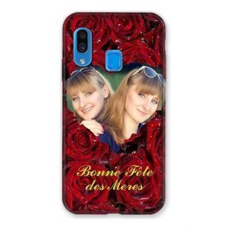 Coque Pour Samsung Galaxy A40 Personnalisee Fete Des Meres Roses Rouges