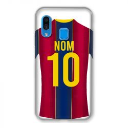 Coque Pour Samsung Galaxy A40 Personnalisee Maillot Football FC Barcelone