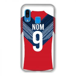 Coque Pour Samsung Galaxy A40 Personnalisee Maillot Football LOSC Lille