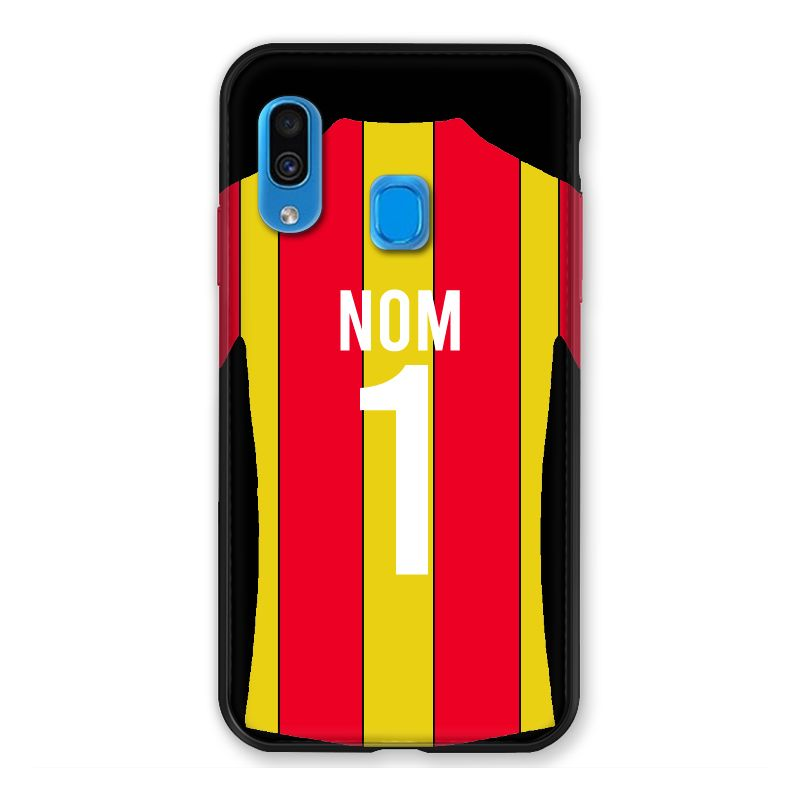 Coque Pour Samsung Galaxy A40 Personnalisee Maillot Football RC Lens