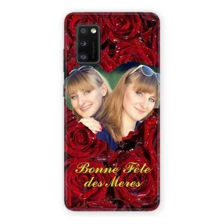 Coque Pour Samsung Galaxy A41 Personnalisee Fete Des Meres Roses Rouges