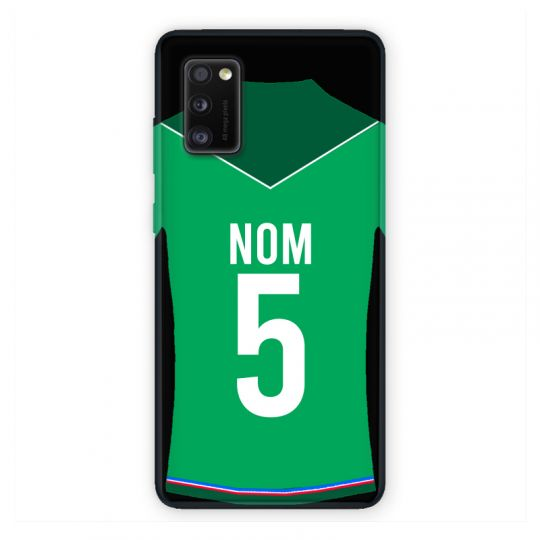 Coque Pour Samsung Galaxy A41 Personnalisee Maillot Football AS Saint Etienne