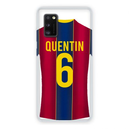 Coque Pour Samsung Galaxy A41 Personnalisee Maillot Football FC Barcelone