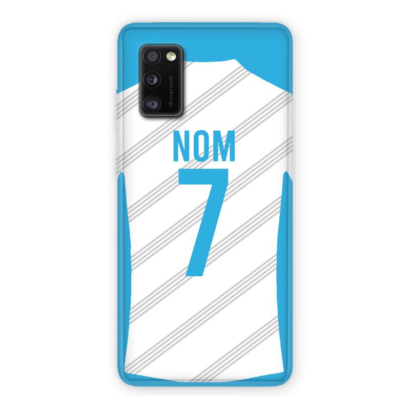 Coque Pour Samsung Galaxy A41 Personnalisee Maillot Football Olympique Marseille Domicile