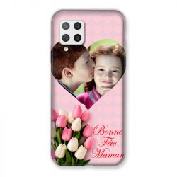 Coque Pour Samsung Galaxy A42 Personnalisee Fete Des Meres Coeurs Roses