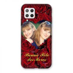 Coque Pour Samsung Galaxy A42 Personnalisee Fete Des Meres Roses Rouges