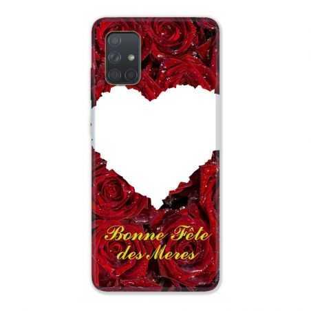 Coque Pour Samsung Galaxy A51 4G Personnalisee Fete Des Meres Roses Rouges