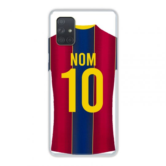 Coque Pour Samsung Galaxy A51 4G Personnalisee Maillot Football FC Barcelone