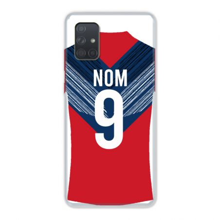 Coque Pour Samsung Galaxy A51 4G Personnalisee Maillot Football LOSC Lille