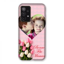 Coque Pour Samsung Galaxy A52 5G Personnalisee Fete Des Meres Coeurs Roses