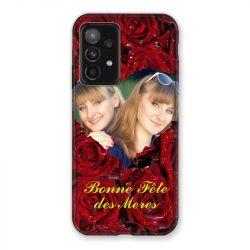 Coque Pour Samsung Galaxy A52 5G Personnalisee Fete Des Meres Roses Rouges