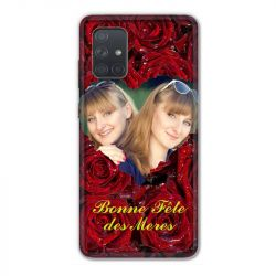 Coque Pour Samsung Galaxy A71 Personnalisee Fete Des Meres Roses Rouges