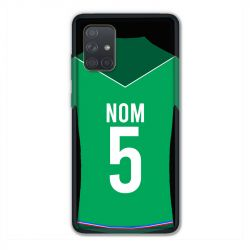 Coque Pour Samsung Galaxy A71 Personnalisee Maillot Football AS Saint Etienne