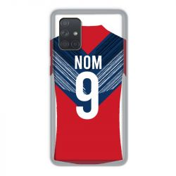 Coque Pour Samsung Galaxy A71 Personnalisee Maillot Football LOSC Lille