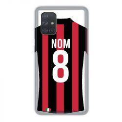 Coque Pour Samsung Galaxy A71 Personnalisee Maillot Football Milan AC