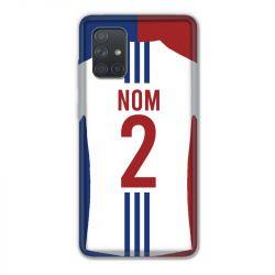 Coque Pour Samsung Galaxy A71 Personnalisee Maillot Football Olympique Lyonnais Domicile