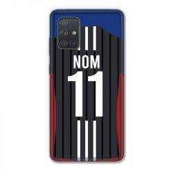 Coque Pour Samsung Galaxy A71 Personnalisee Maillot Football Olympique Lyonnais Exterieur