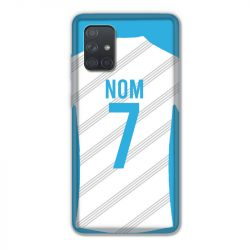 Coque Pour Samsung Galaxy A71 Personnalisee Maillot Football Olympique Marseille Domicile