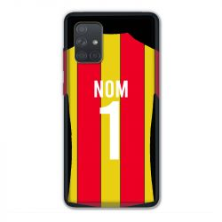 Coque Pour Samsung Galaxy A71 Personnalisee Maillot Football RC Lens