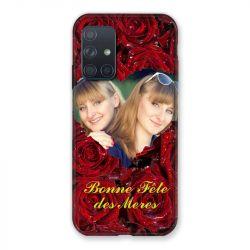 Coque Pour Samsung Galaxy A72 Personnalisee Fete Des Meres Roses Rouges