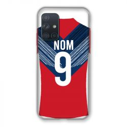 Coque Pour Samsung Galaxy A72 Personnalisee Maillot Football LOSC Lille