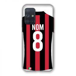Coque Pour Samsung Galaxy A72 Personnalisee Maillot Football Milan AC