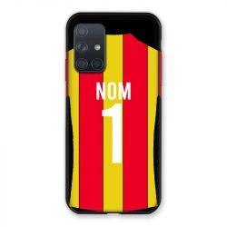 Coque Pour Samsung Galaxy A72 Personnalisee Maillot Football RC Lens