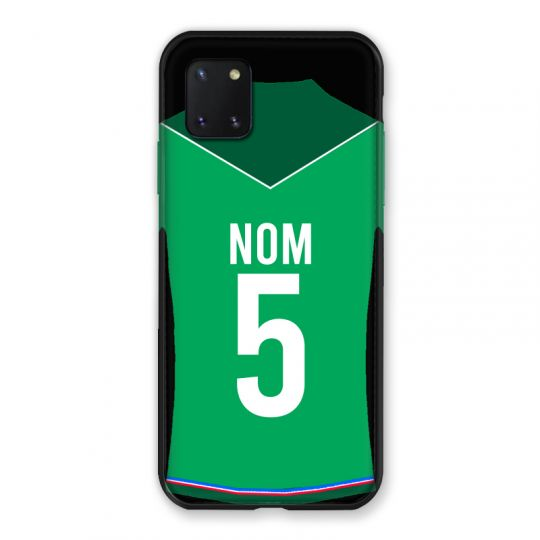 Coque Pour Samsung Galaxy Note 10 Lite Personnalisee Maillot Football AS Saint Etienne