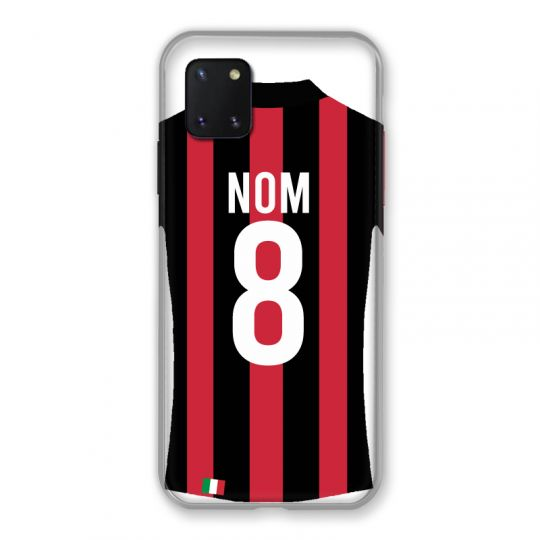 Coque Pour Samsung Galaxy Note 10 Lite Personnalisee Maillot Football Milan AC