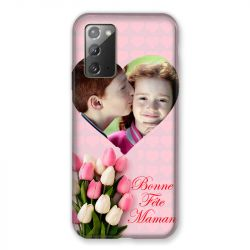 Coque Pour Samsung Galaxy Note 20 Personnalisee Fete Des Meres Coeurs Roses