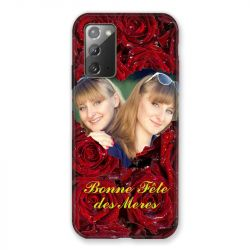 Coque Pour Samsung Galaxy Note 20 Personnalisee Fete Des Meres Roses Rouges