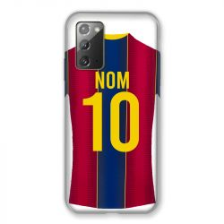Coque Pour Samsung Galaxy Note 20 Personnalisee Maillot Football FC Barcelone