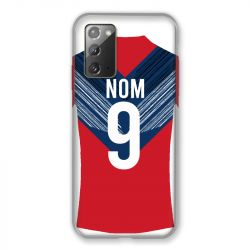 Coque Pour Samsung Galaxy Note 20 Personnalisee Maillot Football LOSC Lille
