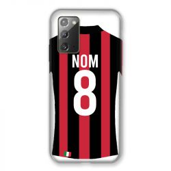 Coque Pour Samsung Galaxy Note 20 Personnalisee Maillot Football Milan AC