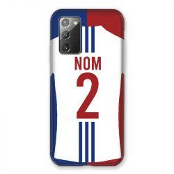 Coque Pour Samsung Galaxy Note 20 Personnalisee Maillot Football Olympique Lyonnais Domicile